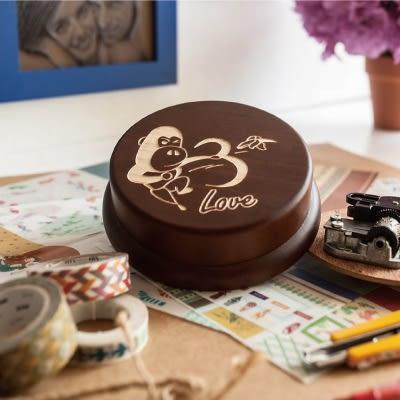 【生日禮物、紀念禮物、聖誕禮物】旋轉音樂盒  婚禮┇ 客製化 禮物 紀念物