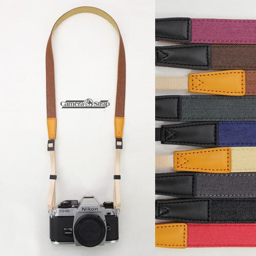 牛仔窄款相機背帶減壓微單相機肩帶拍立得相機帶復古單反背帶