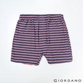 【GIORDANO】男裝高品味沈穩條紋配色四角褲-90 紅/藍