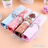 韓版時尚EXO捲簾筆袋TFBOYS帆布筆簾學生鉛筆文具盒布藝清新男女·蒂小屋服飾