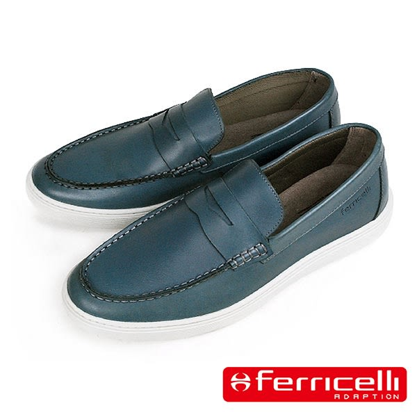 【ferricelli】Outback潮流莫卡辛男仕休閒樂福鞋  藍色(F51427-BU)
