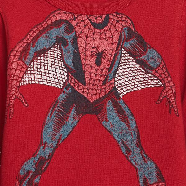 Gap男幼童 Gap x Marvel 漫威系列蜘蛛人主題休閒休閒上衣 617820-紅色