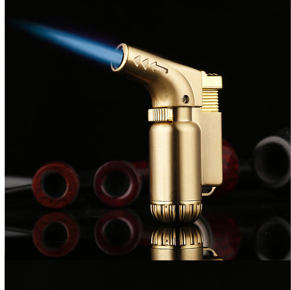創意充氣打火機焊槍耐高溫防風雪茄男點煙器