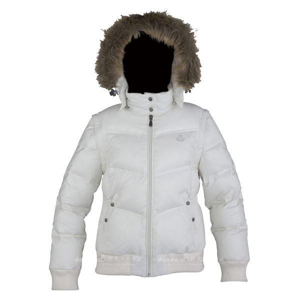 丹大戶外【SOFTSUN】9SLW4509-81 女款保暖羽绒連帽外套 高比例羽絨填充 米白