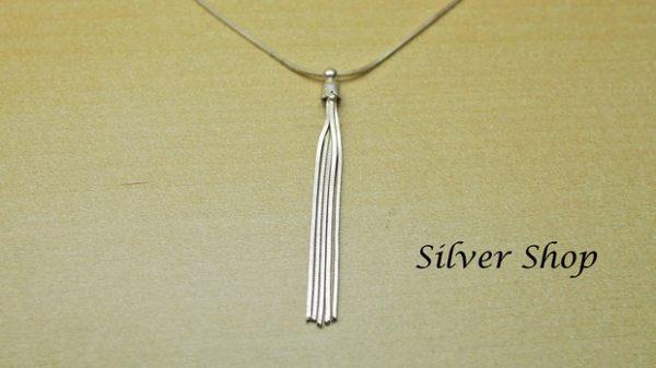 ╭☆ Silver shop ☆╯純銀 S925 套鍊 素銀 [ snn 004 ]