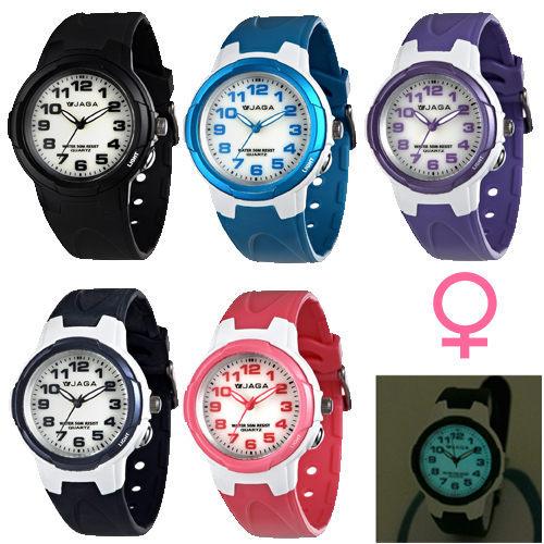 [EYE DC] JAGA AQ71A 色彩繽紛夜光防水指針錶 (女款 / 公司貨/共五色)