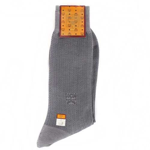 MCM 菱格紋紳士襪(灰色)980075