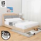 【多瓦娜】MIT利拉工業日式5尺二件式房間組(三分床底+矮皮床頭)-二色-036