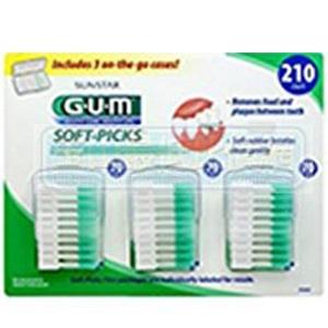 [106 美國直購] SUNSTAR GUM SOFT纖毛式牙牙間刷牙線棒 PICKS 210 COUN