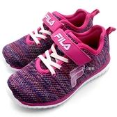 《7+1童鞋》FILA 2-J828S-999 針織透氣網布 輕量 運動鞋 慢跑鞋 4226 紫色