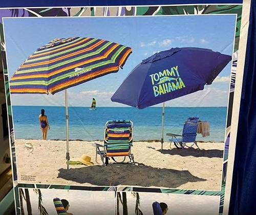 [COSCO代購] C1327294 TOMMY BAHAMA 8FT UMBRELLA 輕量铝質8呎海灘遮陽傘 傘面直徑240公分