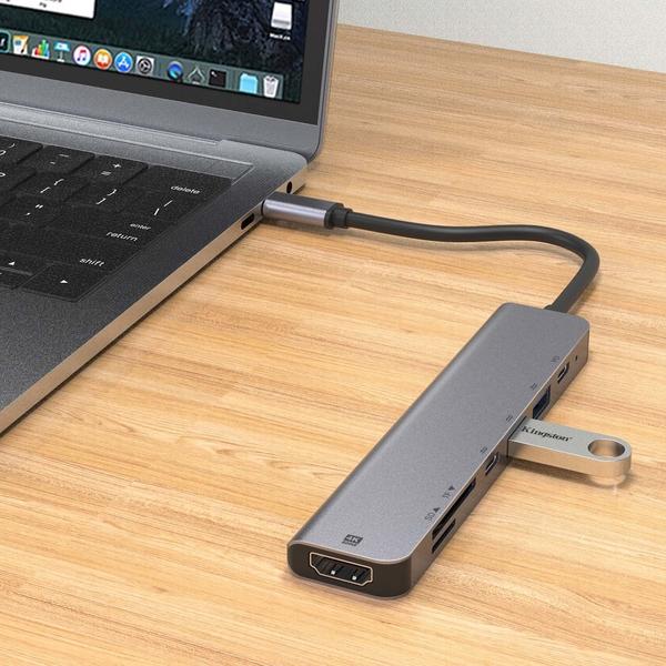【699元】歐騰UC902 USB-C接口SD+TF+USB X2 +USB-C(DATA)+USB-C(PD) Docking