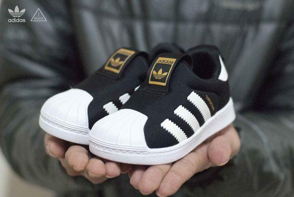 ADIDAS Originals superstar 360 黑白金標 小童鞋 學步鞋 S82711