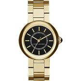 Marc Jacobs courtney 名模時尚腕錶-黑x金/34mm MJ3468