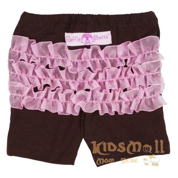 美國Ruffle Butts,荷葉短褲-Chocolate Pink