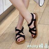 【618好康又一發】韓版平底露趾百搭平跟學生女涼鞋