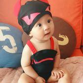 兒童泳衣男童0-4歲連體惡魔造型泳裝速干