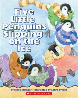 【麥克書店】FIVE LITTLE PENGUINS SLIPPING ON THE ICE /英文繪本+CD 《主題:趣味.數數》