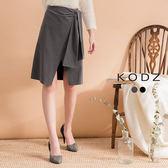東京著衣【KODZ】經典OL開岔側邊綁帶設計裙-S.M.L(171922)