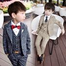 兒童小西裝套裝小花童禮服修身四件套秋冬季...
