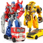 變形玩具金剛5大黃蜂兒童恐龍合金飛機警車汽車人機器人模型男孩4 【快速出貨】