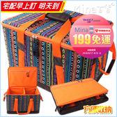 ✿mina百貨✿ 民族風露營野餐收納包 戶外收納袋 工具包 收納箱 大容量 摺疊 加厚【H065】