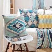 北歐幾何風格棉麻靠墊 沙發裝飾擺設抱枕 百搭WY