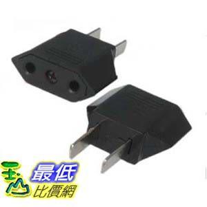 [玉山最低比價網] 轉換插座插頭 美規轉接頭 電源轉換器 圓孔轉扁腳 G49A