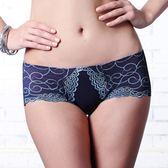 LADY 深線魅力系列 機能調整型 低腰平口褲(神秘藍)