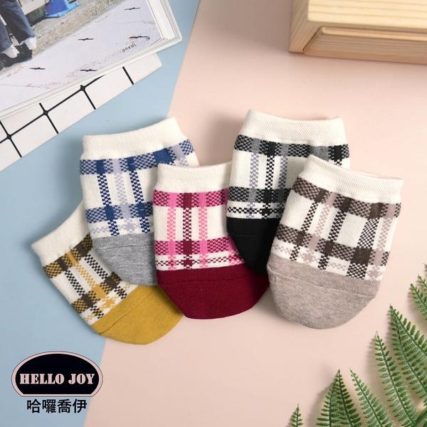【正韓直送】暖色格紋穆勒襪 韓國襪子 短襪 穆勒鞋襪子 棉襪 女襪 船型襪 禮物 哈囉喬伊E44
