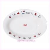 asdfkitty可愛家☆日本金正陶器 KITTY信封陶瓷長橢圓深盤/焗烤盤-可微波-日本製