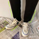 帆布鞋   情侶涂鴉學生個性帆布鞋夏季韓版男士低幫鞋潮流板鞋  『優尚良品』