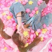 網紅房間裝飾海洋球粉色洗澡玩具七彩兒童少女球池室內波波球 【八折搶購】