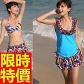 泳衣(三件式)-比基尼-音樂祭溫泉戲水必備休閒潮流2色54g98[時尚巴黎]