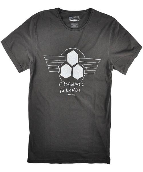 Channel Islands T恤 WINGS LOGO TEE 衝浪第一品牌CI Surfboards - 男(黑)