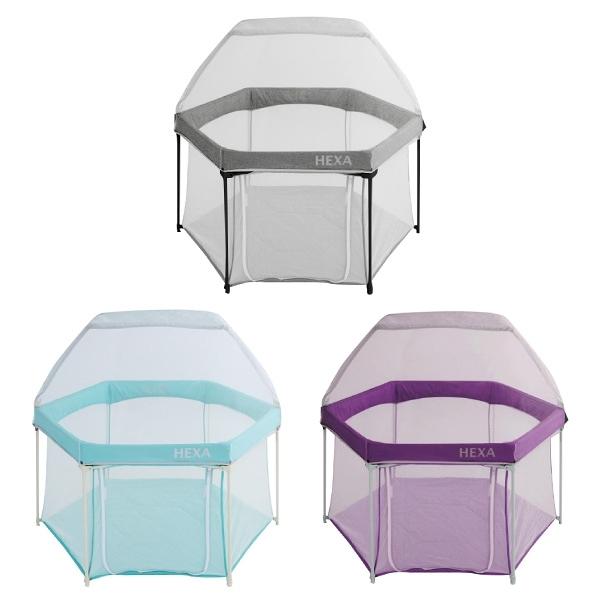 【買就送Close Pop-in圍兜】GleeKids 樂寶 HEXA 海星遊戲圍欄(尊爵版)+蚊帳組合 (3色可選)