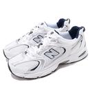 New Balance 休閒鞋 530 白 藍 銀 復古慢跑鞋 老爹鞋 男鞋 【ACS】 MR530SGD