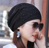 頭巾帽帽子女鏤空網眼夏季薄款透氣頭巾帽吸汗堆堆帽空調月子光頭包頭帽 名創家居館