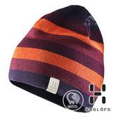 【瑞典Haglofs】TWICE BEANIE條紋針織羊毛帽『莓果紫』603335 保暖帽│造型帽│毛帽