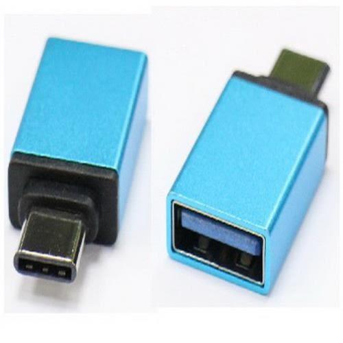 i-wiz 炫彩 Type-C公 to USB3.0 OTG 轉接頭 藍