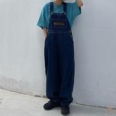 古著牛仔背帶褲女日系可愛減齡寬鬆顯瘦百搭【橘社小鎮】