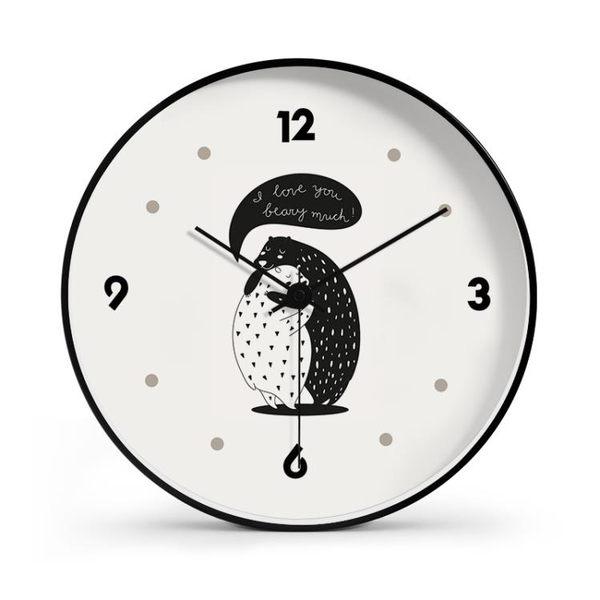 掛鐘北歐個性創意時尚鐘錶掛鐘現代簡約大氣錶客廳家用靜音  俏女孩