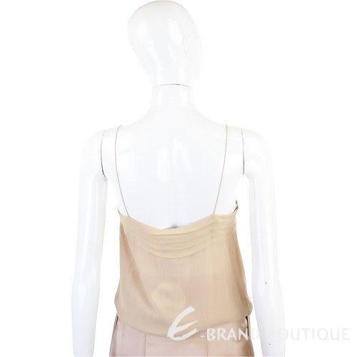 CHLOE' 膚色抓褶絲質細肩帶背心 0540053-24