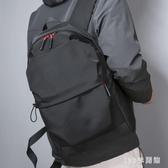 後背包 雙肩包男士簡約電腦背包防水大書包男大容量休閒旅行包LB20327【123休閒館】