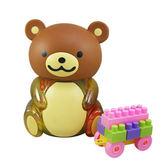 【樂兒學】candy小熊罐益智積木(棕)~可當撲滿及糖果罐喔(MT0348K)