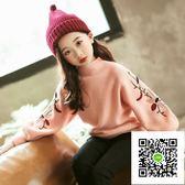 女童毛衣  女童毛衣加厚高領冬裝韓版新款洋氣中大童兒童女針織衫毛線衫 歐歐流行館