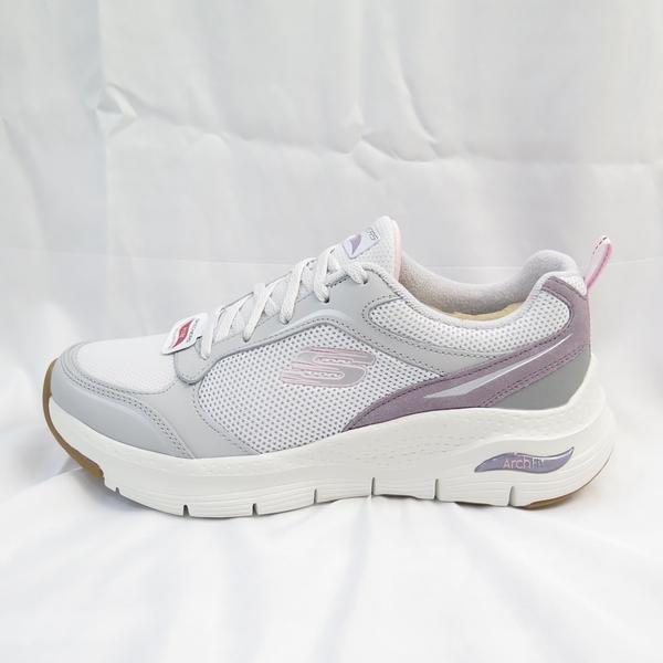 Skechers ARCHFIT-GENTLE STRIDE 女款 健走鞋 149413LGPR 白灰紫【iSport】