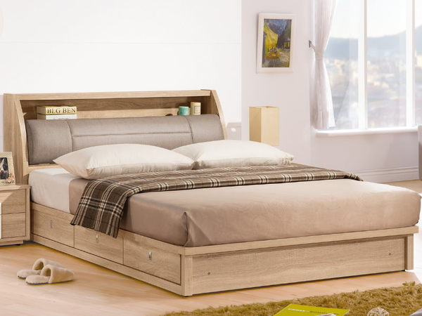 床架 QW-125-3A 多莉絲6尺雙人床 (床頭+床底)(不含床墊) 【大眾家居舘】
