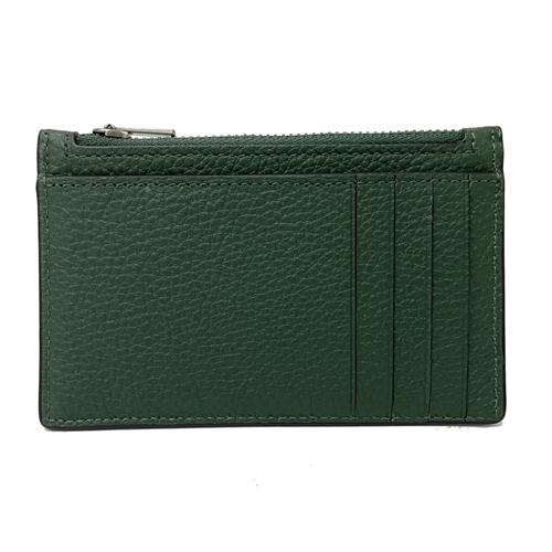 【COACH】多卡夾層男款中性名片夾零錢包(知性綠)