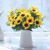 假花仿真干花客廳家居擺設盆栽套裝飾品擺件室內餐桌茶幾塑料花卉「輕時光」